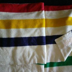 Hudsons Bay 8-point wool vintage blanket 108x 100L